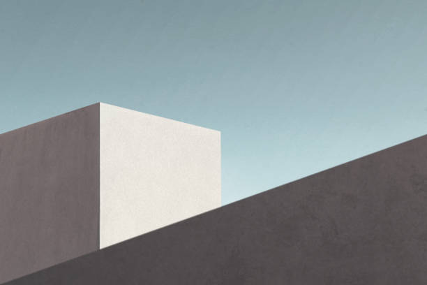 minimal modern architecture shape stock photo
