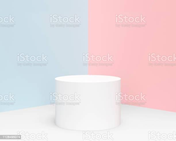 Minimale Pastel Cilinder Product Weergeven Stockfoto en meer beelden van Abstract