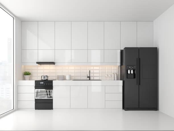 Minimale Küche 3d render – Foto