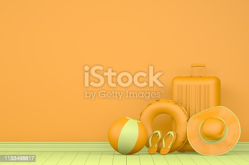 1153498948istockphoto 3D Minimal Summer and Travel Concept 1153498817
