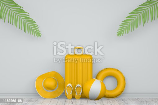 1153498948istockphoto Minimal Summer and Travel Concept with Palm Leaf 1135565168