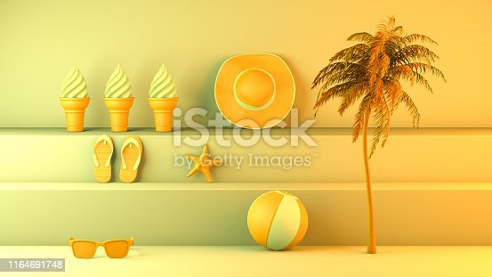 1153498948istockphoto Minimal summer and travel concept with staircase platform 1164691748