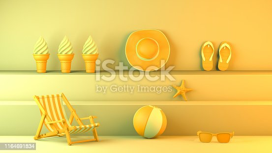 1153498948istockphoto Minimal summer and travel concept with staircase platform 1164691834