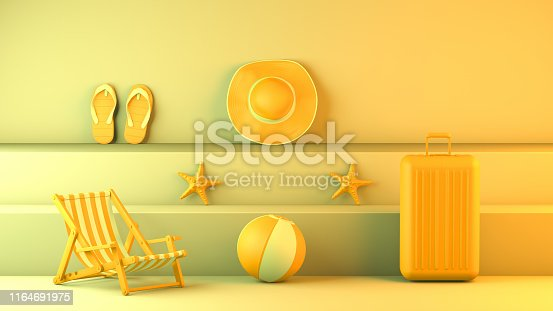 1153498948istockphoto Minimal summer and travel concept with staircase platform 1164691975