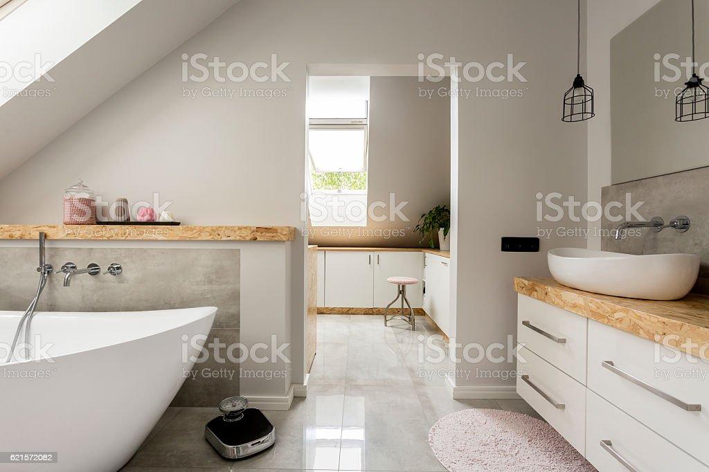 Minimalism bathroom photo libre de droits