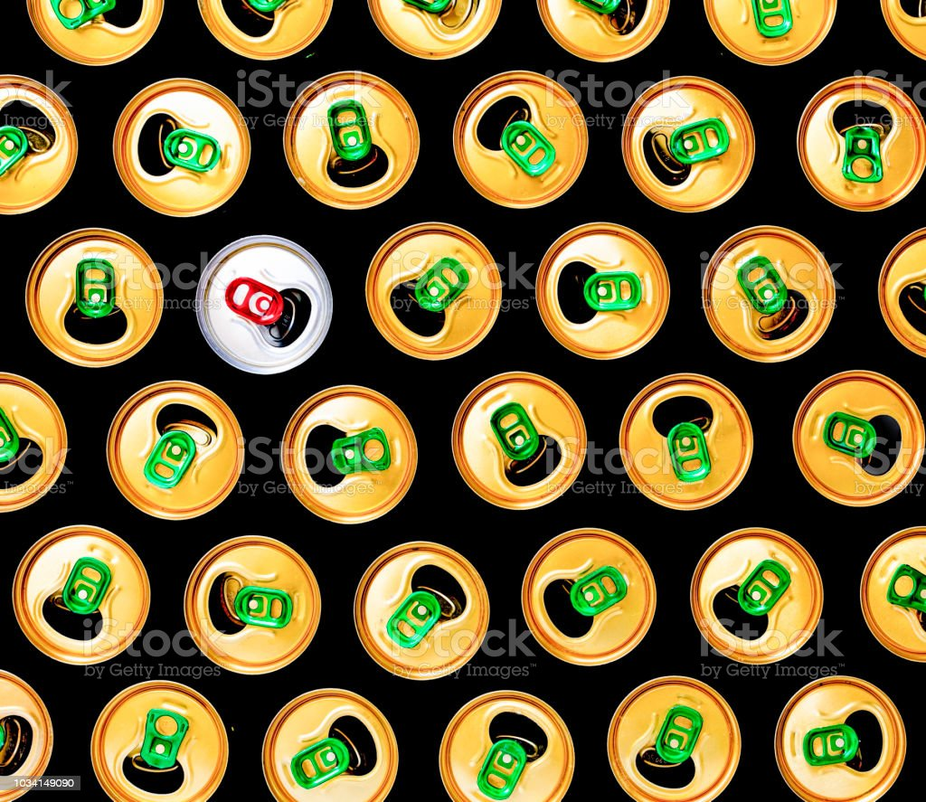 Minimalism, Beer cans, pink background, Pattern, modern, accent, stock photo