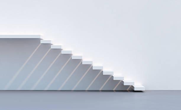 style minimalisme escaliers - marches marches et escaliers photos et images de collection