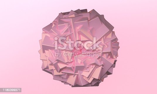 1166441358 istock photo Minimalist abstract background shape colorfull scene, 3d rendering. 1180399371