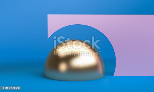 1166441358 istock photo Minimalist abstract background shape colorfull scene, 3d rendering. 1180399380