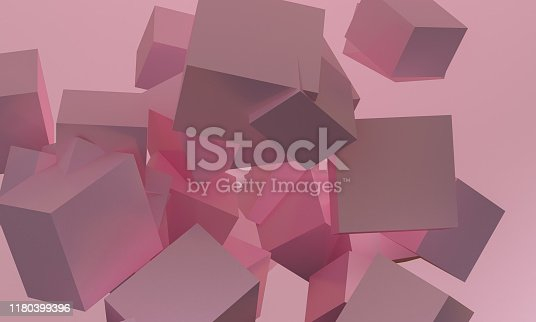 1166441358 istock photo Minimalist abstract background shape colorfull scene, 3d rendering. 1180399396