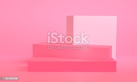 1166441358 istock photo Minimalist abstract background shape colorfull scene, 3d rendering. 1180399398