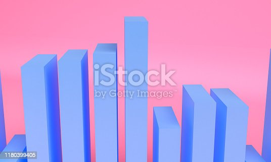 1166441358 istock photo Minimalist abstract background shape colorfull scene, 3d rendering. 1180399405