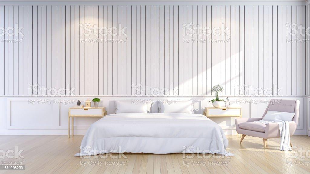 Minimalistisch en scandinavische stijl gezellige slaapkamer