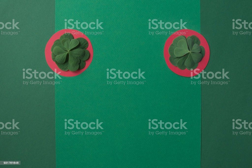 Minimalist background of St. Patrick's Day stock photo