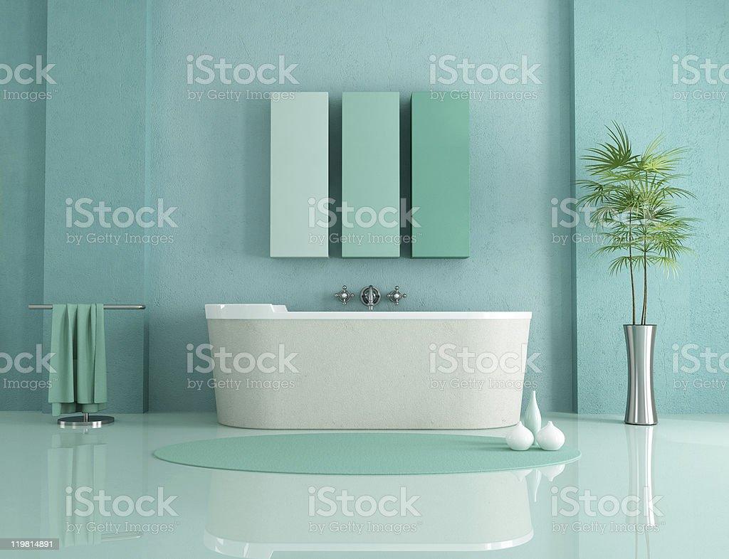 Bagno minimalista - foto stock