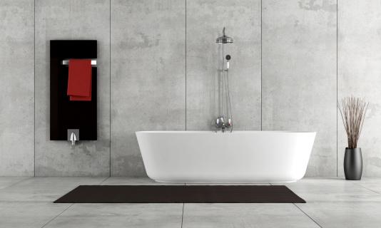 Minimalist Bathroom Stock Photo - Download Image Now