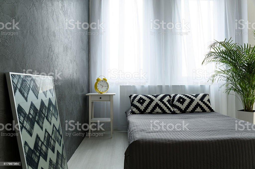 Bon Minimalistische Schlafzimmer Idee Lizenzfreies Stock Foto