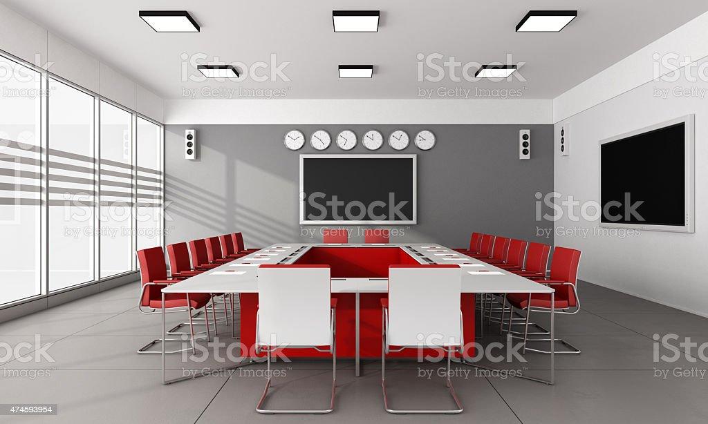 Minimalist  board room stock photo