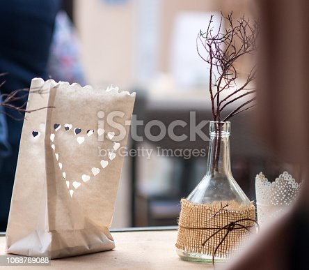 istock minimalist decoration with bag and candle and glass bottle - do it yourself 1068769088