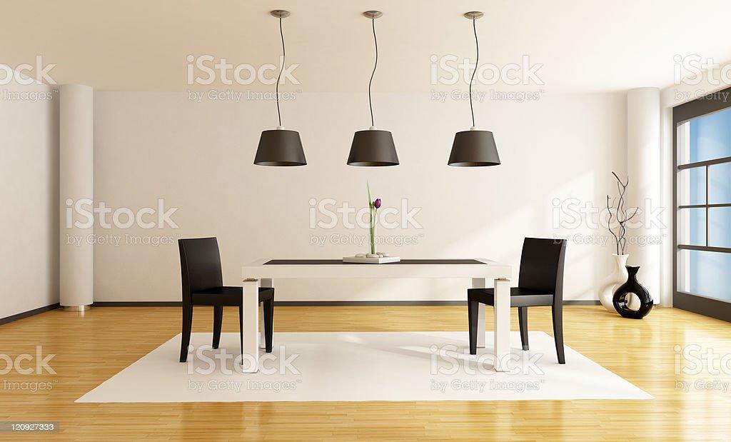 minimalist dining room royalty-free stock photo