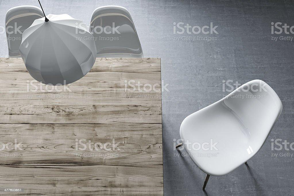 Minimalista de comedor - foto de stock