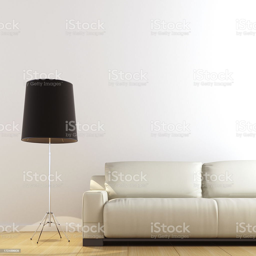 Minimalist Interior royalty-free stock photo