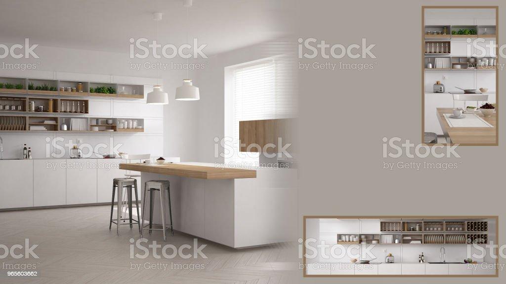 Minimalistische küche präsentation mit kopie raum und details