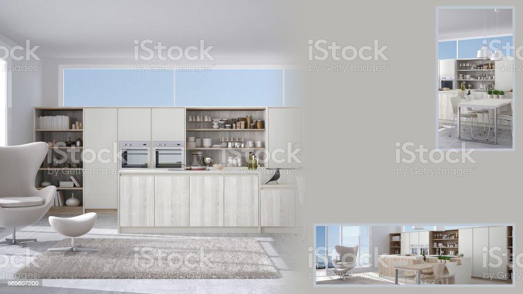 Minimalistische Kuche Prasentation Mit Kopie Raum Und Details