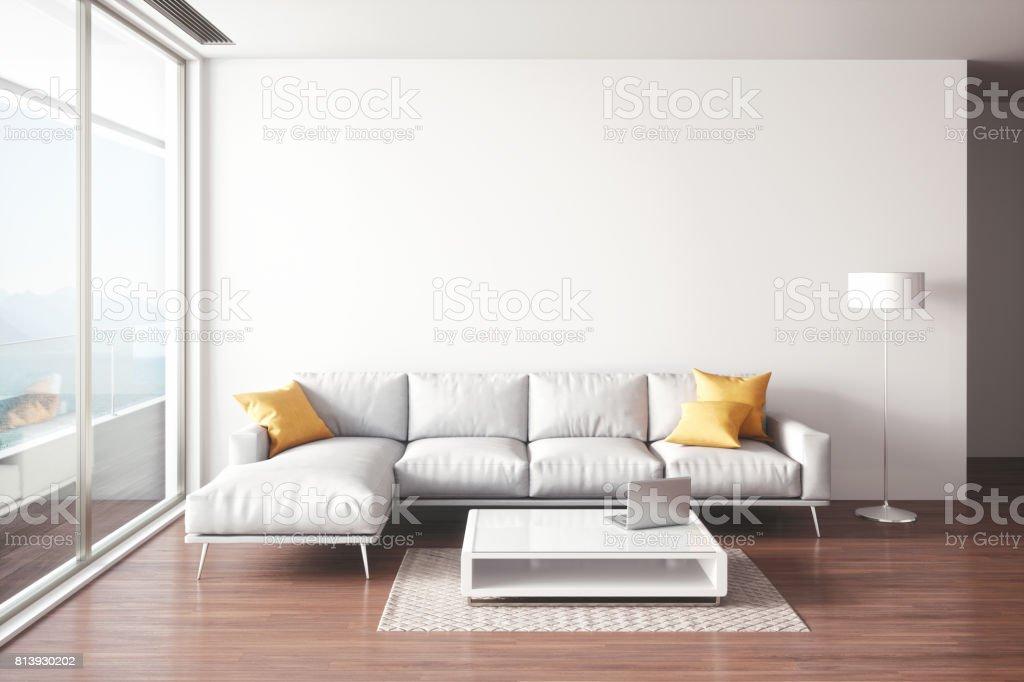 Minimalistische woonkamer interieur stockfoto en meer beelden van