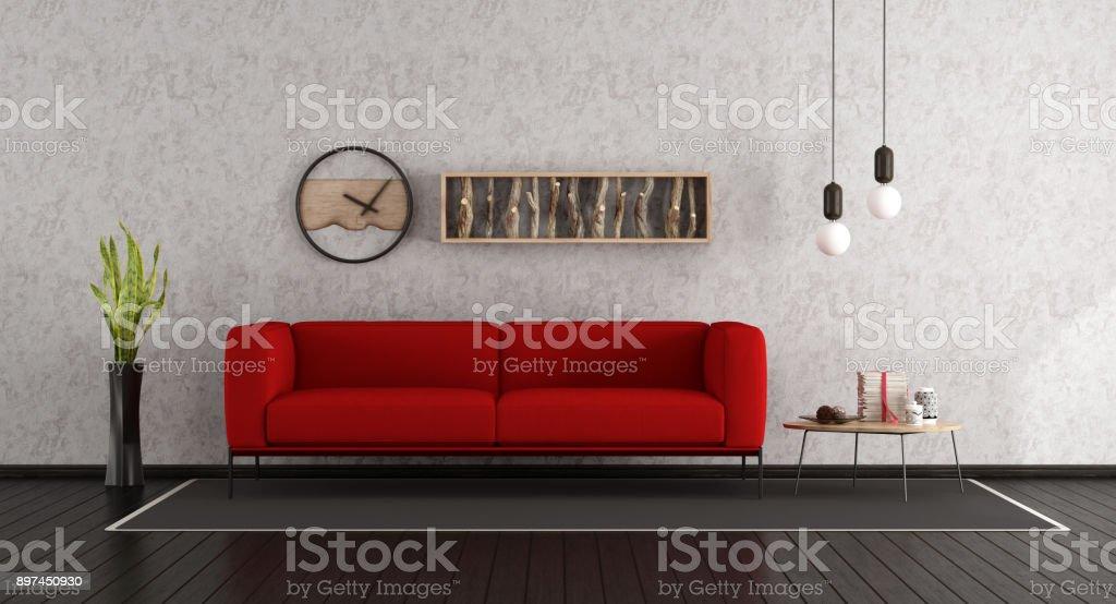 Minimalist living room - foto stock