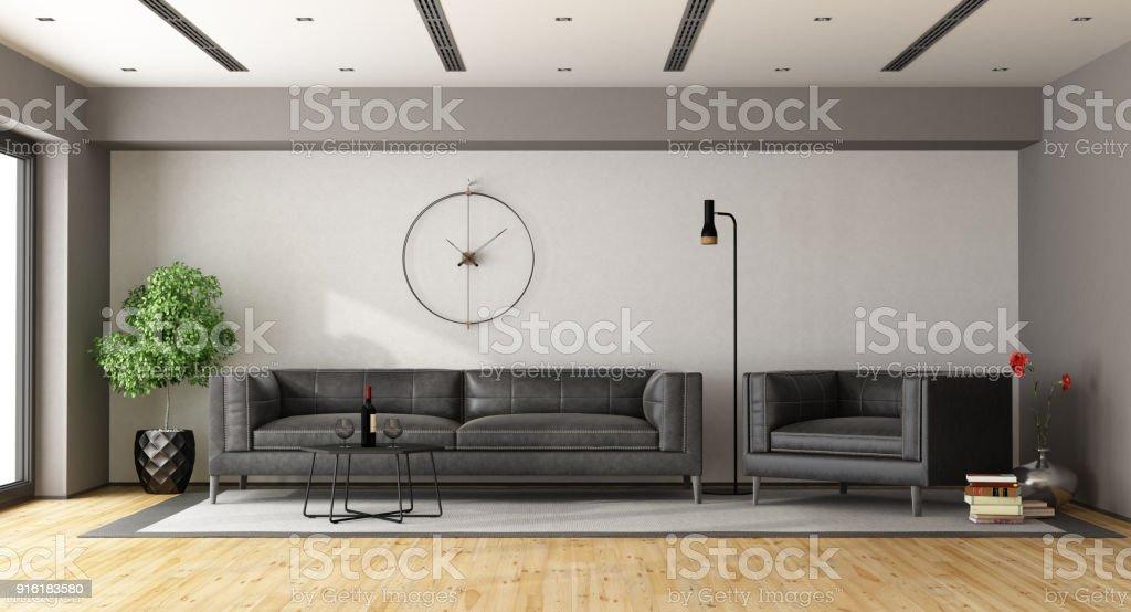 Minimalistisches Wohnzimmer Stockfoto Und Mehr Bilder Von