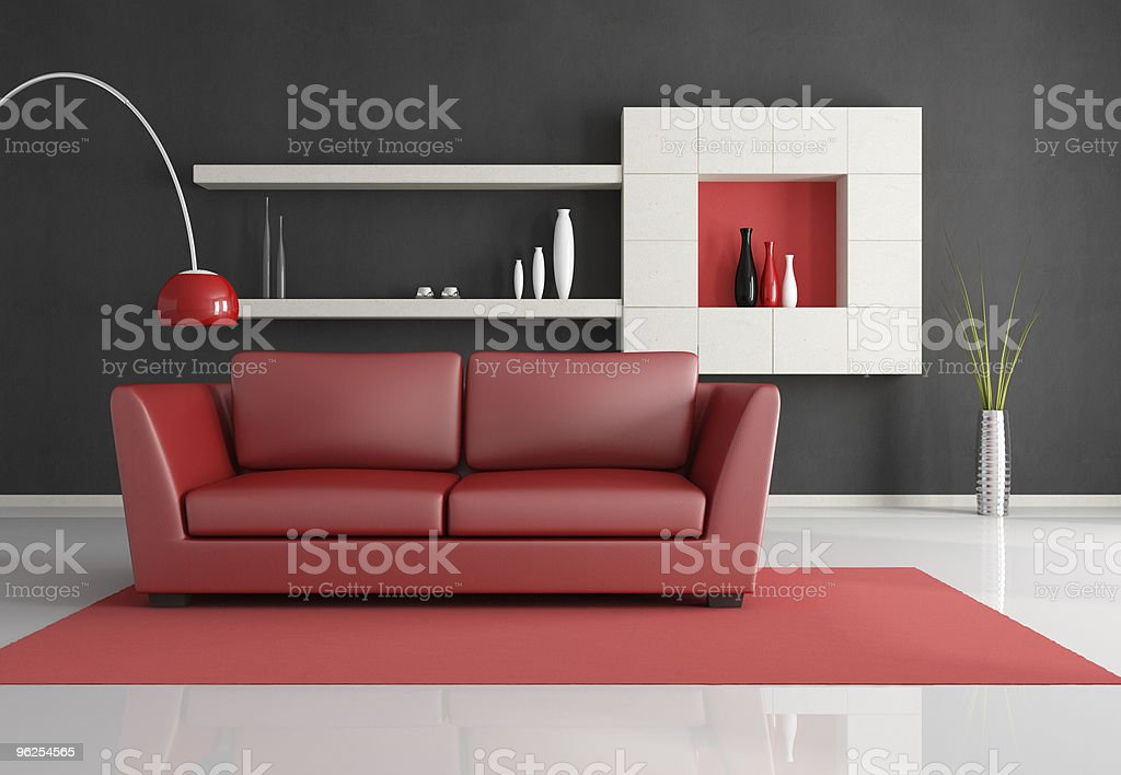 minimalist living room - Royalty-free Black Color Stock Photo