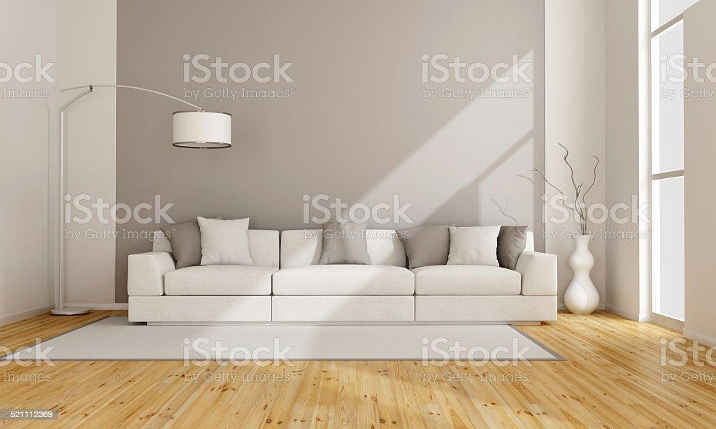 Minimalist lounge stock photo