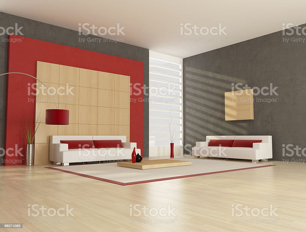 minimalist lounge royalty-free stock photo