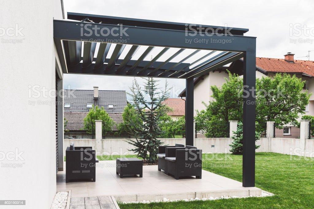 Terraza Casa Moderna Minimalista Foto De Stock Y Más Banco