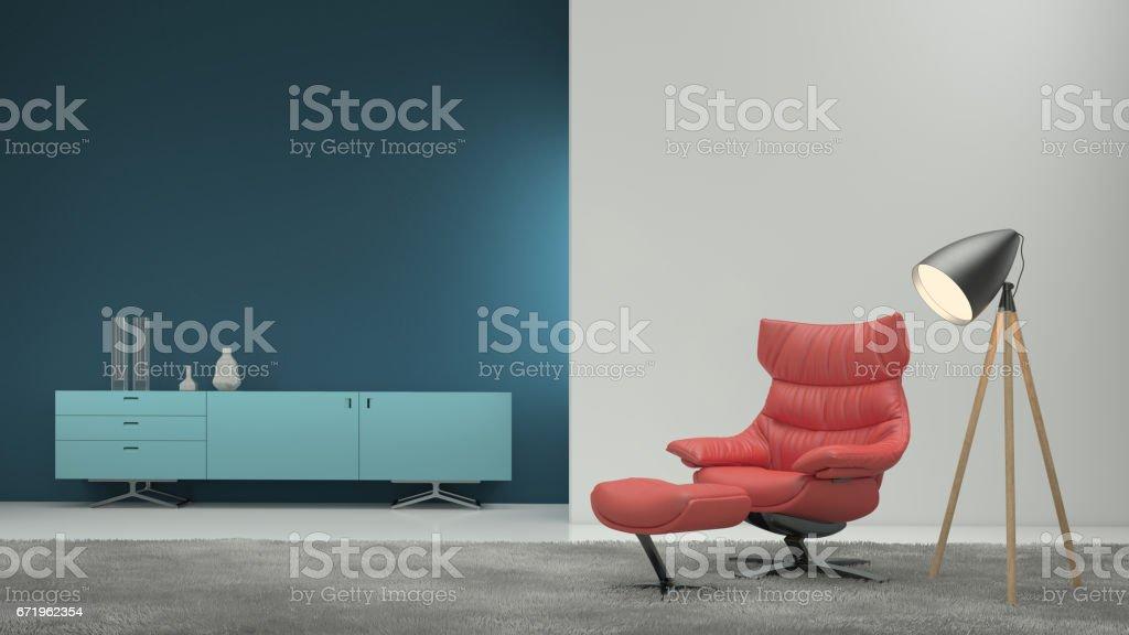 Minimalistische moderne interieur wohnzimmer stockfoto istock
