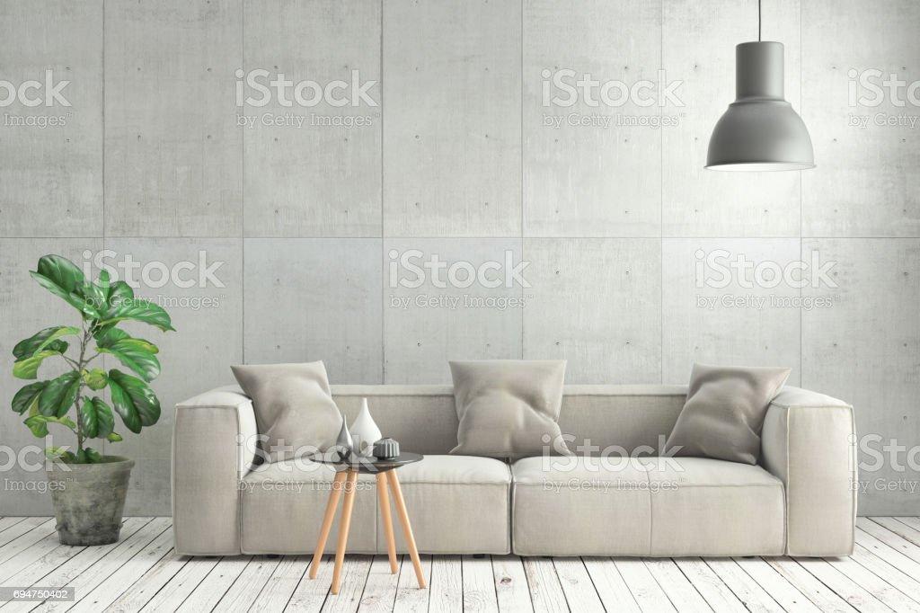 Minimalistische Moderne Interieur Wohnzimmer Mit