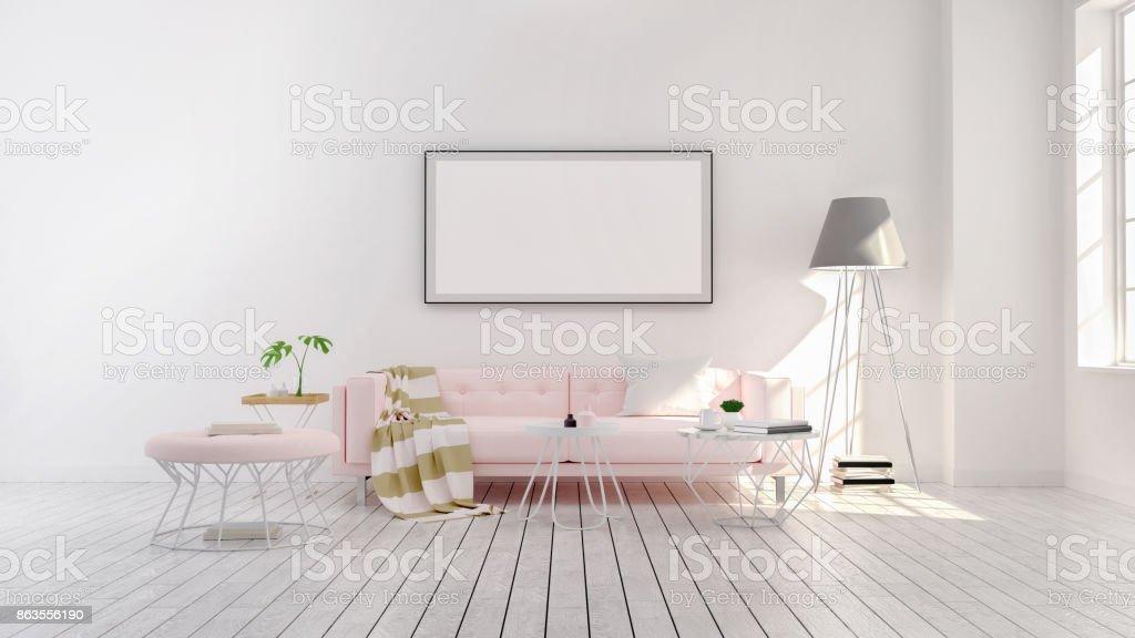Modernen Minimalistischen Stil Wohnzimmer Innenraumkonzeptdesign ...