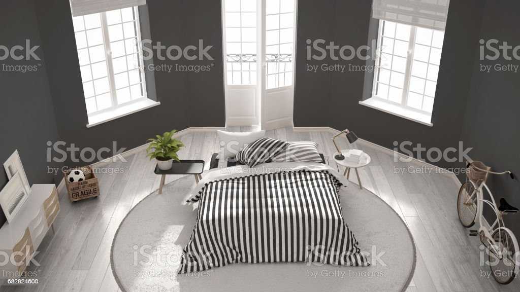 Minimalist Modern White Bedroom Classic Nordic Interior Design Top Stock Images Page Everypixel