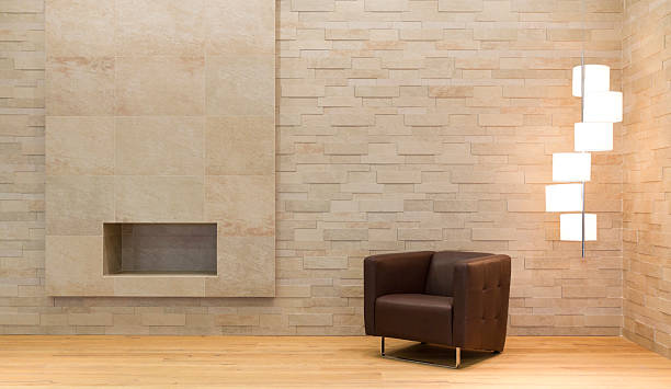 Minimalistisch eingerichtete Zimmer – Foto