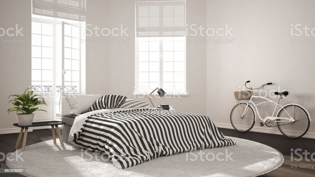 Minimalist Scandinavian Modern Bedroom Classic Nordic Interior Design Stock Photo Download Image Now Istock