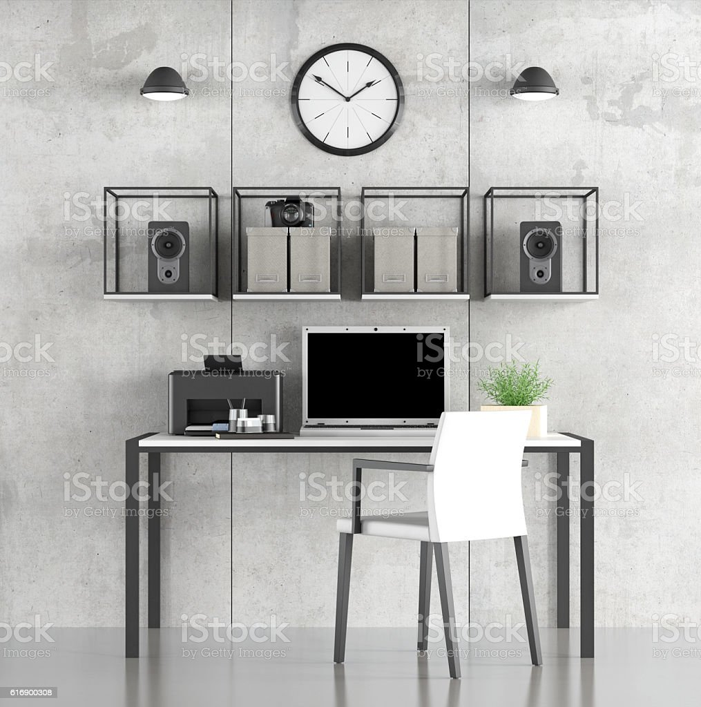 Minimalist Study Room: Minimalist Study Room Stock Photo & More Pictures Of Arts
