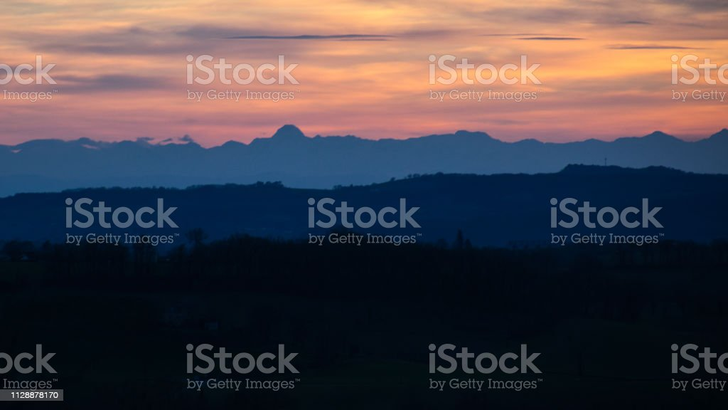 Minimalist sunset stock photo