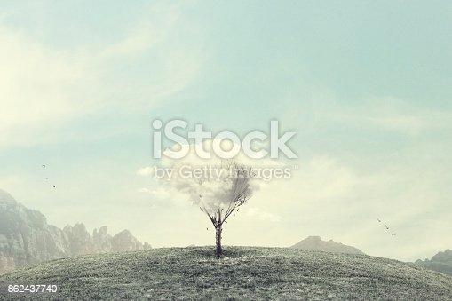 istock minimalist surreal winter landscape 862437740