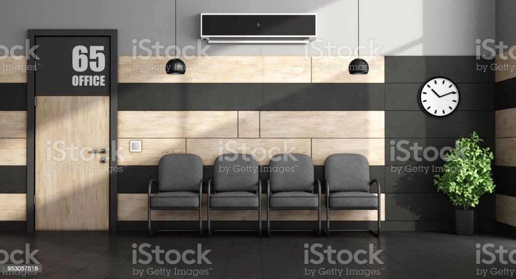 Minimalist waiting room - foto stock