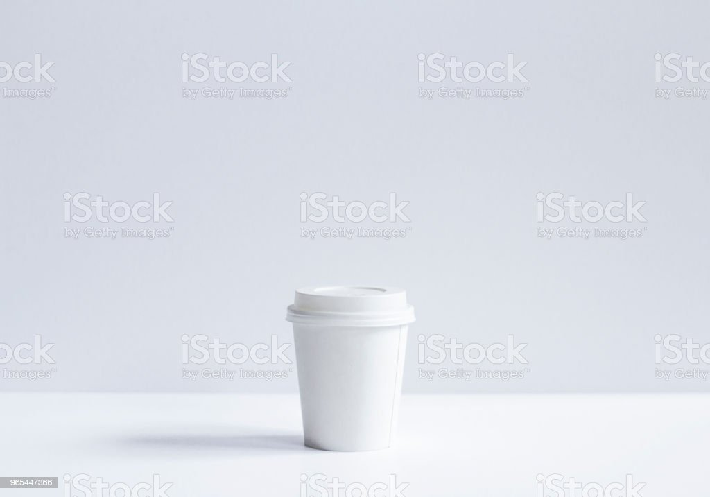 Minimalist White Cup royalty-free stock photo