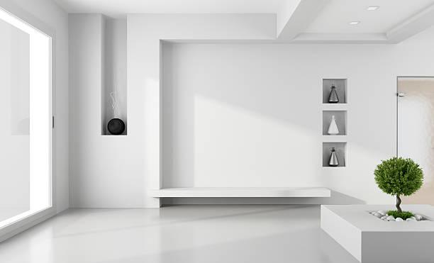 Chambre blanche minimaliste - Photo