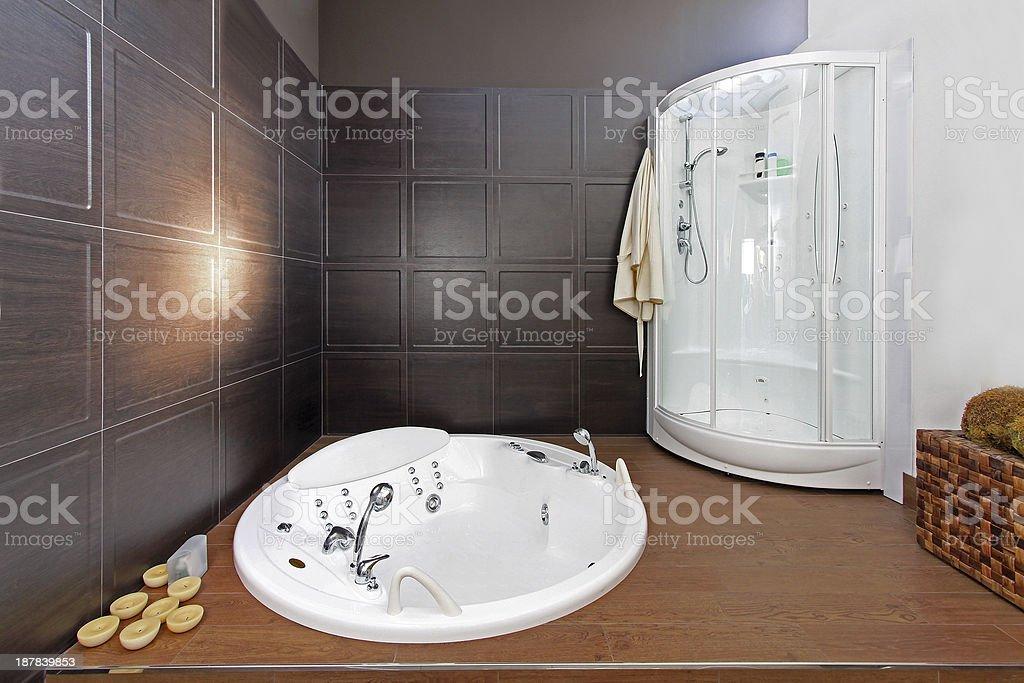 Minimalistic bathroom stock photo