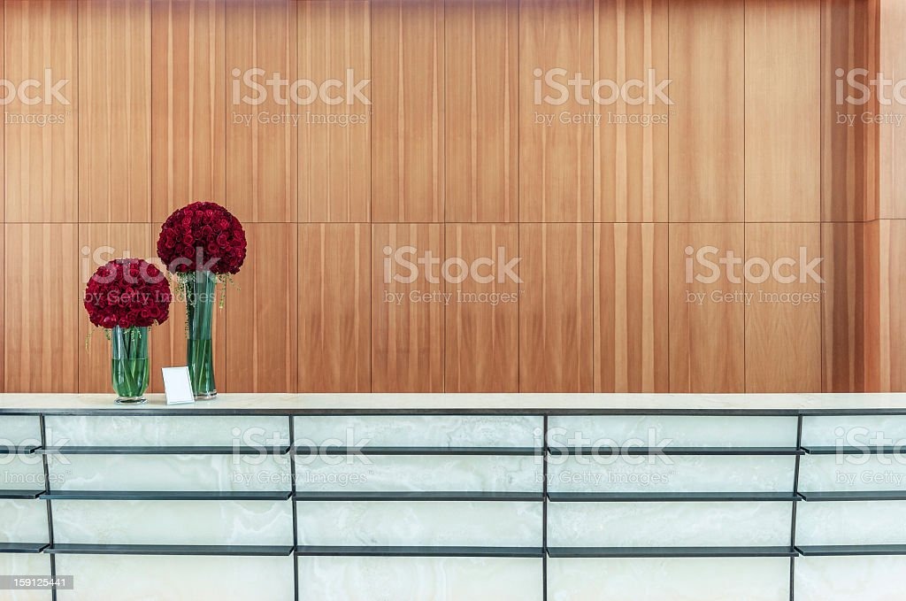 Minimalistic counter with beautiful roses royalty-free stock photo