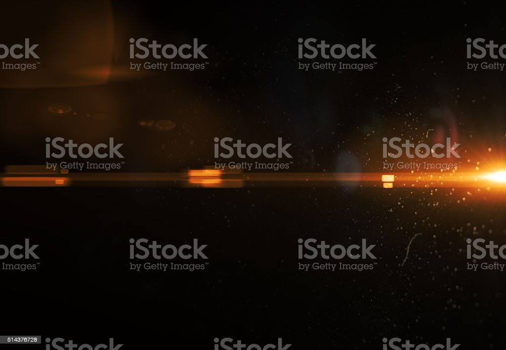 Minimalistic orange abstract flare light (super high resolution) stock photo